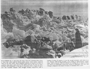 1930s Ice Floes on the Columbia River