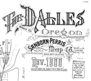 Sanborn Insurance Maps 1900-11 The Dalles Oregon Wasco County