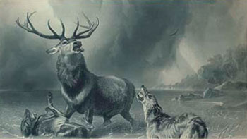 The Stag At Bay by Edwin Landseer