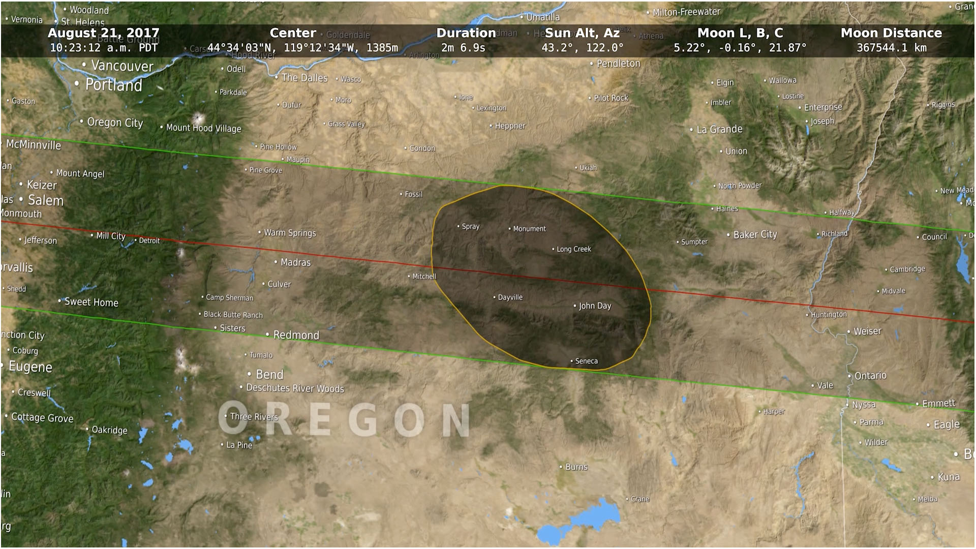 Total Solar Eclipse 2017 – Historic The Dalles